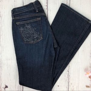 LUCKY BRAND Sweet n' Low floral embroidered jean